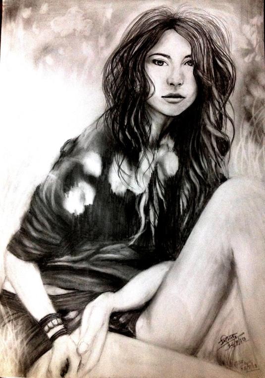 pencil sketch by Trinath Sen