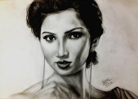 Shreya Ghoshal _ pencil sketch by Trinath Sen_