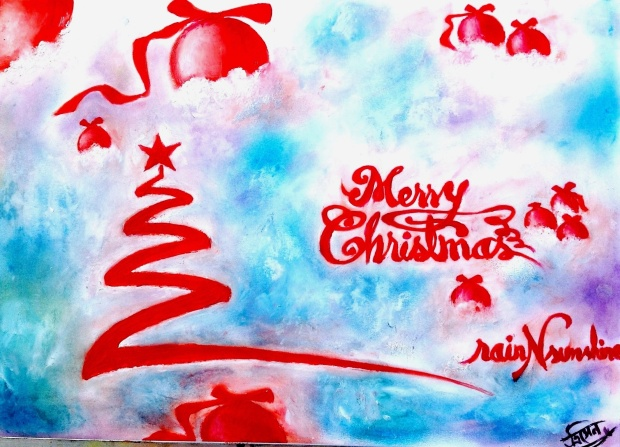 Merry Christmas _ oil painting by Trinath Sen