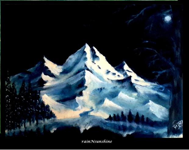 ei raat tomar aamar  _ oil painting by rainNsunshine  frame