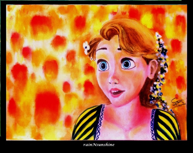 tangled _oil painting by rainNsunshine