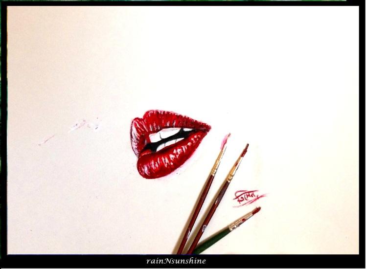 my imaginary valentine _ oil on paper by rainNsunshine