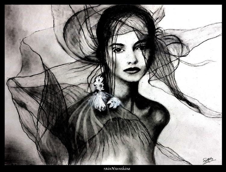 fantasy_ sketch  by rainNsunshine  _framed