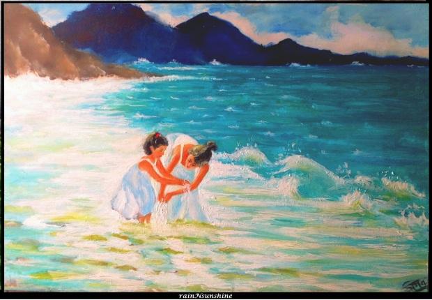 a man gotta dream _ oil painting by rainNsunshine _frame