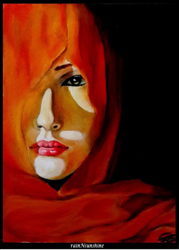 in love _ oil painting by rainNsunshine _frame