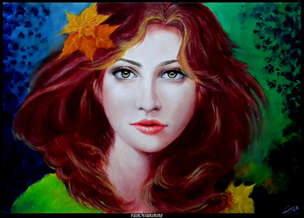 paradise_ oil painting by rainNsunshine  - frame