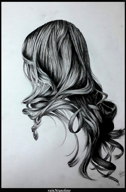 elle nexiste pas_ pencil sketch by rainNsunshine - frame - pinterest