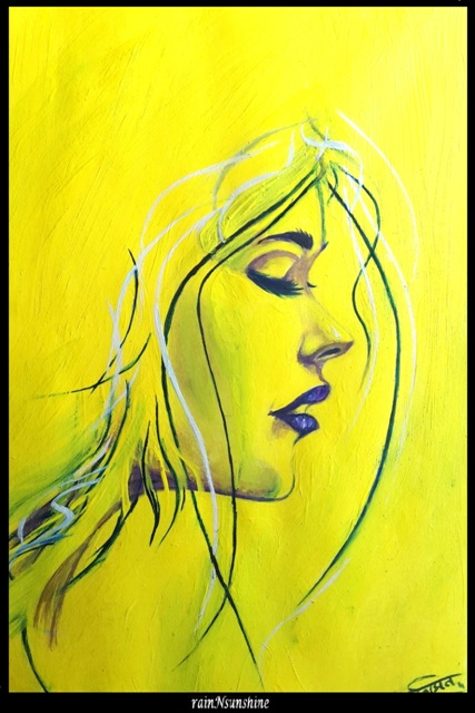 yellow dream_ oil painting by rainNsunshine  - frame - resized