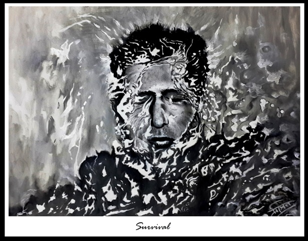 dare to dream_ pencil sketch and acrylic by Trinath Sen