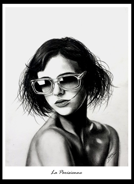 fashionista_  pencil sketch by Trinath Sen