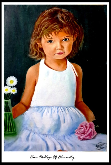 one dollop of eternity_ oil painting by Trinath Sen