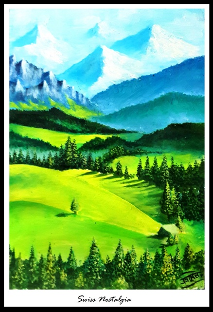 swiss nostalgia_painting by rainNsunshine - frame - res