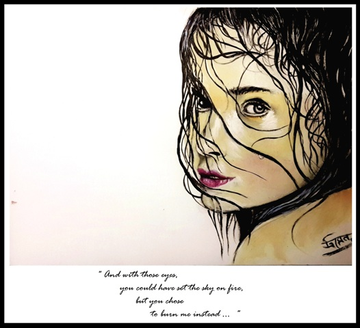 the look_unfinished painting by rainnsunshine  - frame - res